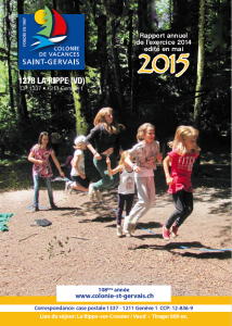 Rapport annuel colonie St-Gervais 2015