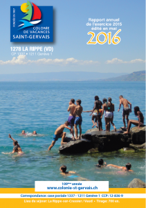 Rapport annuel Colonie St-Gervais 2016